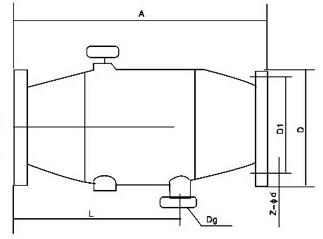 ZPG-L、I型(直角)自動排污過濾器外形尺寸圖